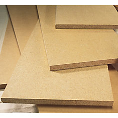Unfinished Square Edge Medium Density Fibreboard Shelving 5/8 Inch x 12 Inch x 96 Inch