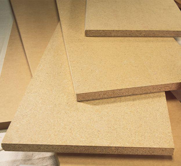 Tablette non-finie en panneau de fibres à densité moyenne (MDF), bord carré, 5/8 po x 12 po x 96 ...