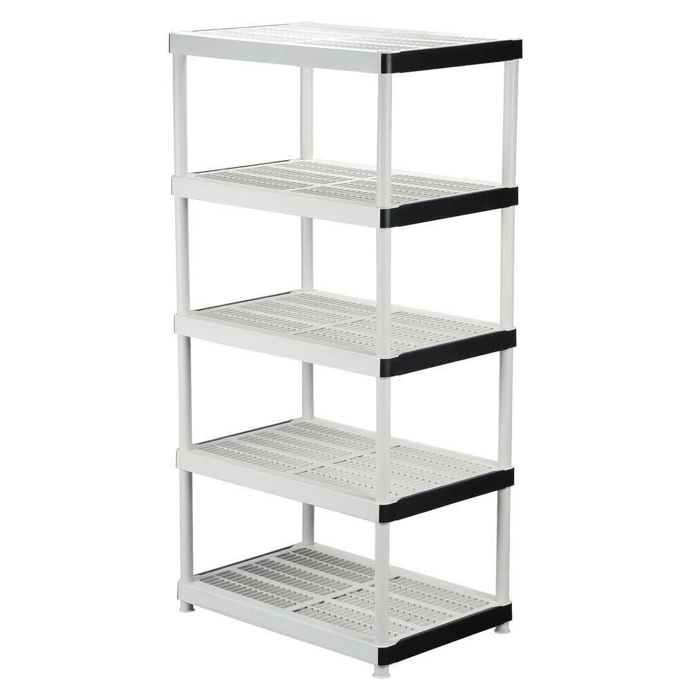 HDX 5-Shelf Resin Storage Unit