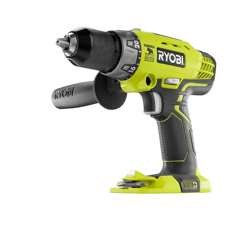 RYOBI 18V ONE+ Cordless 1/2-inch Hammer Drill/Driver with Handle (Tool Only)