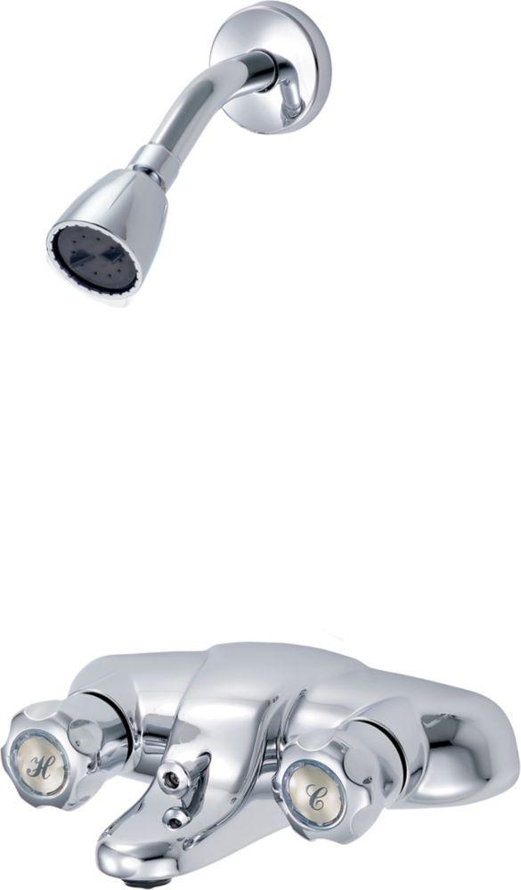 Waltec Face Mount Bath/Shower Faucet in Chrome