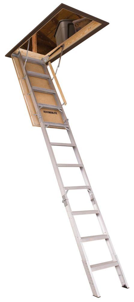 Featherlite Aluminum Attic Ladder Elite Energy Series