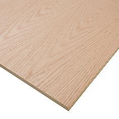 3/4-inch. x 4 Feet. x 8 Feet. Purebond Red Oak