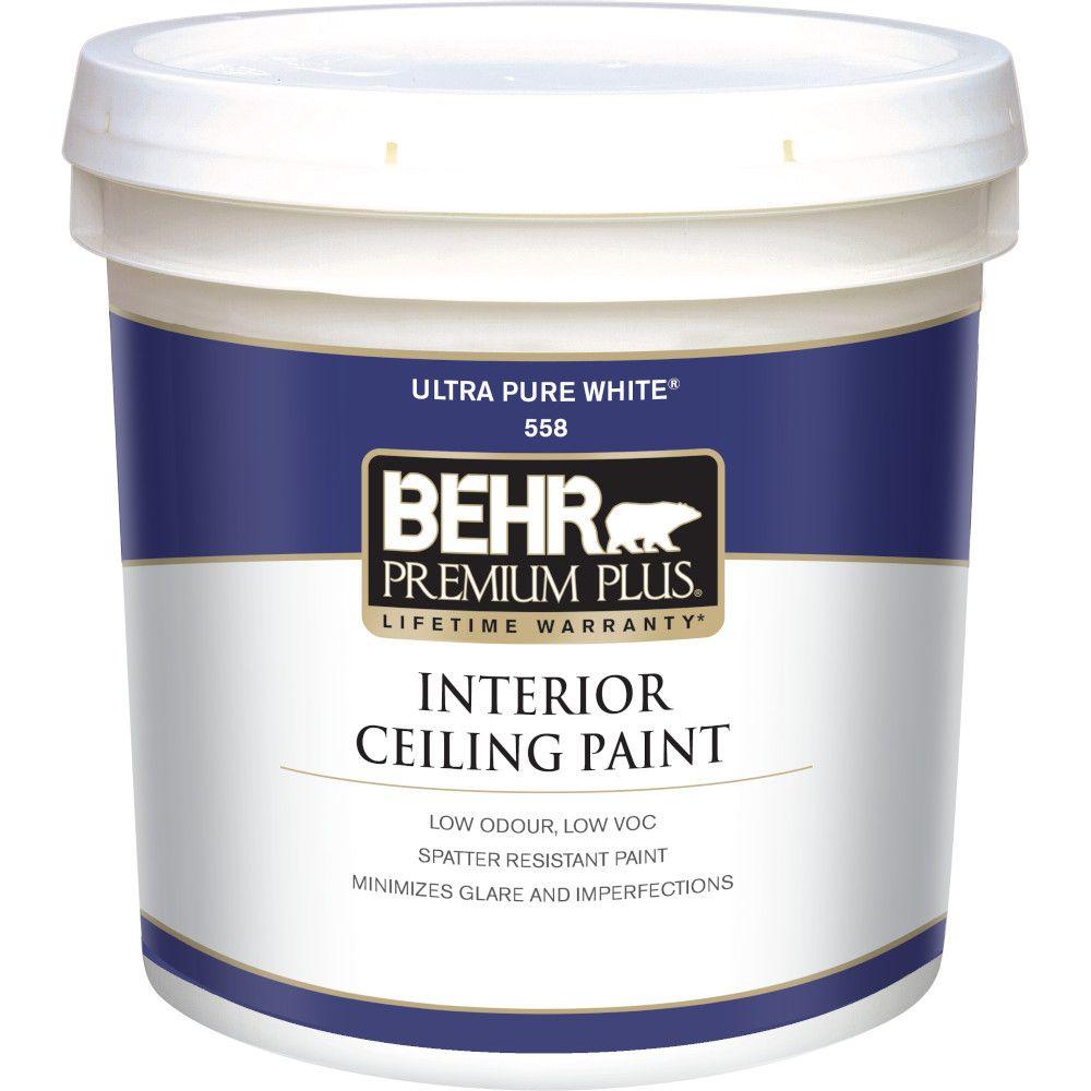 Behr Premium Plus Interior Flat Ceiling Paint, 7.58L