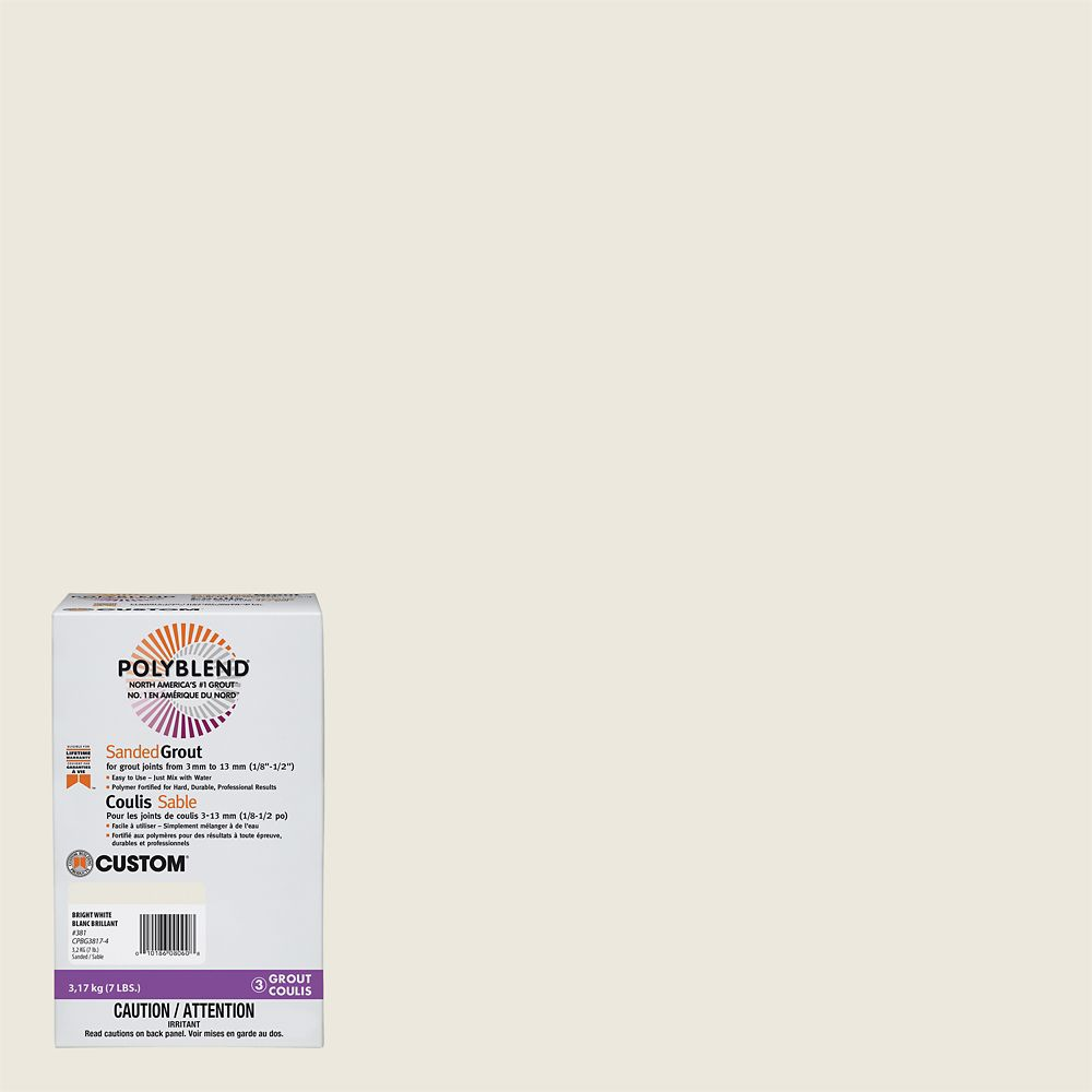 #381 Bright White - Polyblend Sanded Grout - 7lb