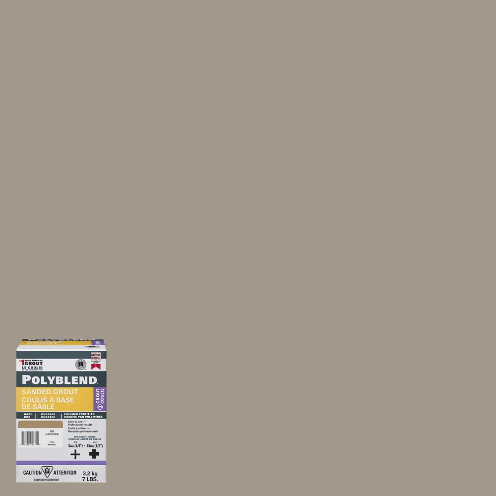 #386 Oyster Gray - Polyblend Sanded Grout - 7lb
