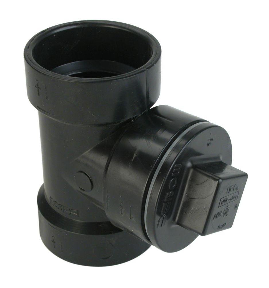 Abs 4 inchX3 inchX4 inch Cleanout Tee W/Plug