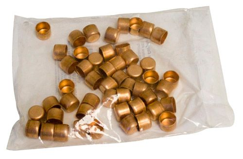 Fitting Copper Tube Cap 1/2 Inch (Bag Of 50)