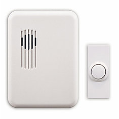 Wireless Plug-In Door Chime Kit With White Cover