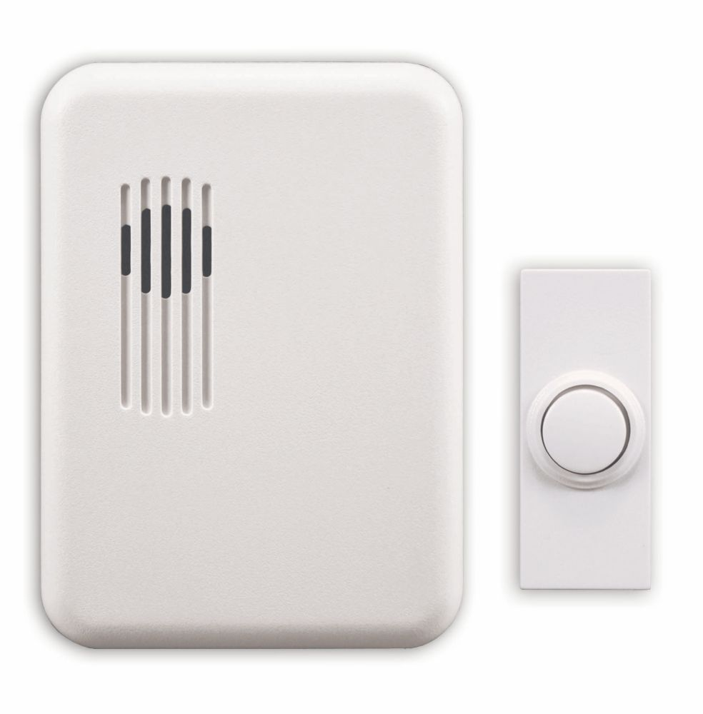 Heath Zenith Wireless Plug-In Door Chime Kit With White Cover