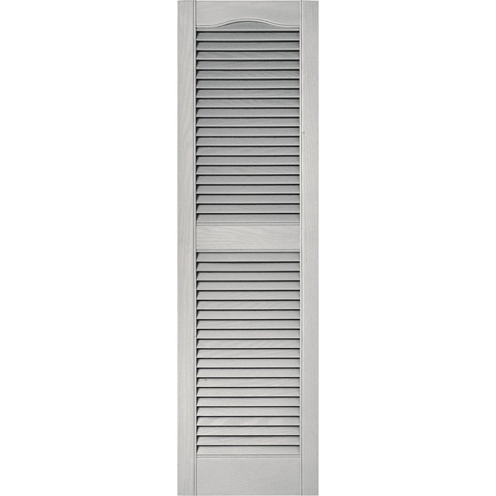 Builders edge 15x36 paintable louvered shutters the home for Persienne exterieur