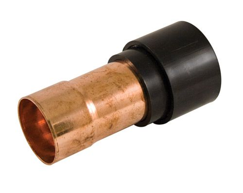 Transition Coupling 2 Inch ABS to Copper Drain, Waste & Vent