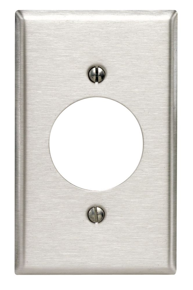 Leviton 1-Gang  Plate 20/30 Amp, Stainless Steel