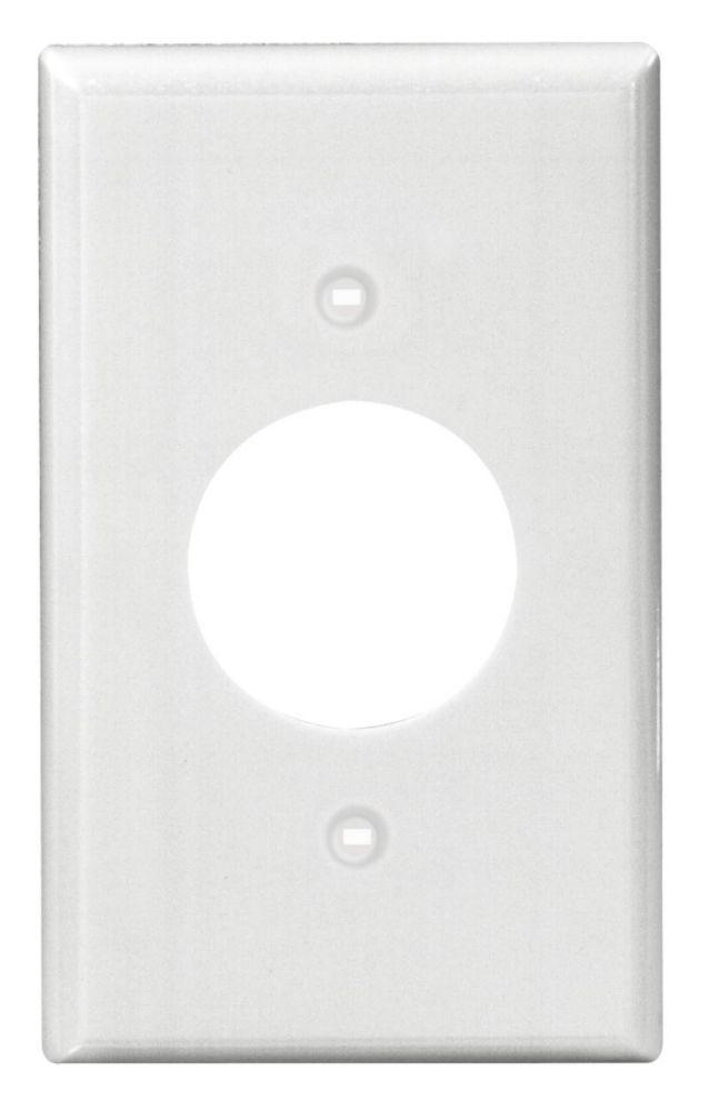 Power Outlet Single Gang Nylon Wallplate,White