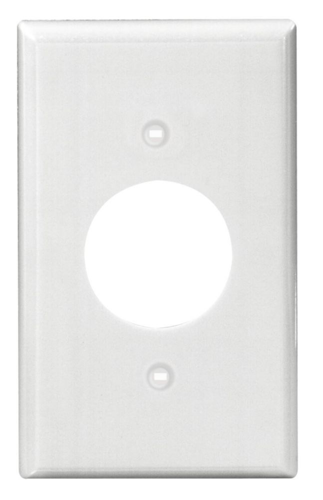Leviton Power Outlet Single Gang Nylon wall plate,White