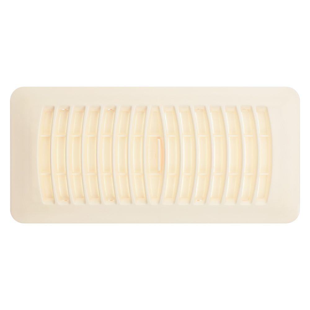 Hdx 4x10 ivory plastic floor register the home depot canada for Floor registers
