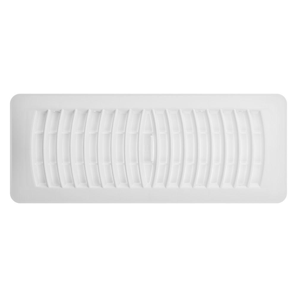 4x12 White Plastic Floor Register