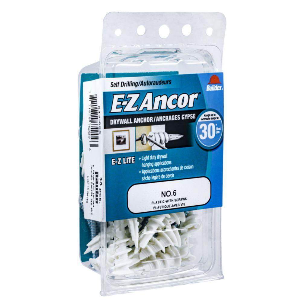 Papc-6 E-Z Drywall Anchor W/Screws