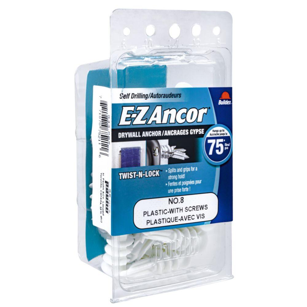 Papc - 8 E-Z Drywall Anchor W/Screw