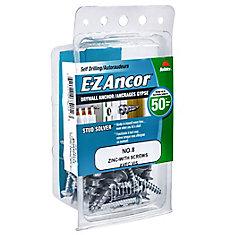 Papc 8 E-Z Drywall Anchor W/Scr Zin