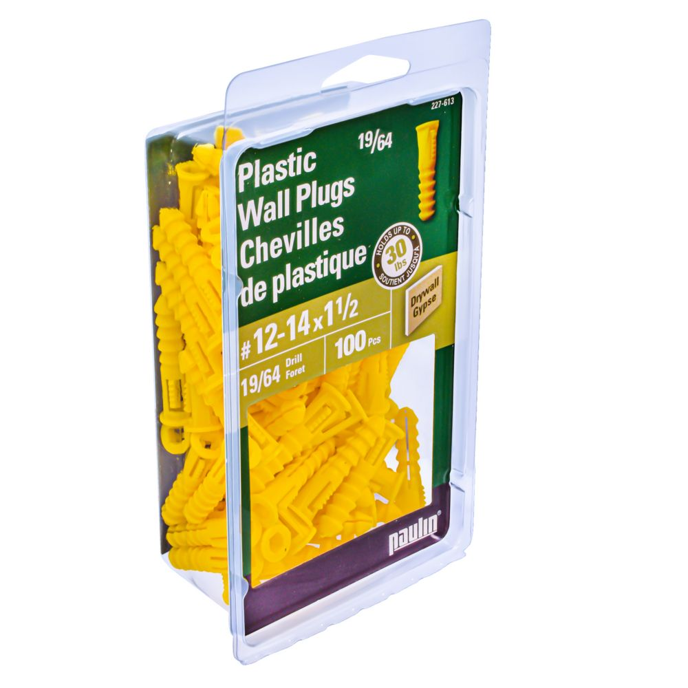 No.12-14 X  1 1/2 Inch. Plastic Anchors