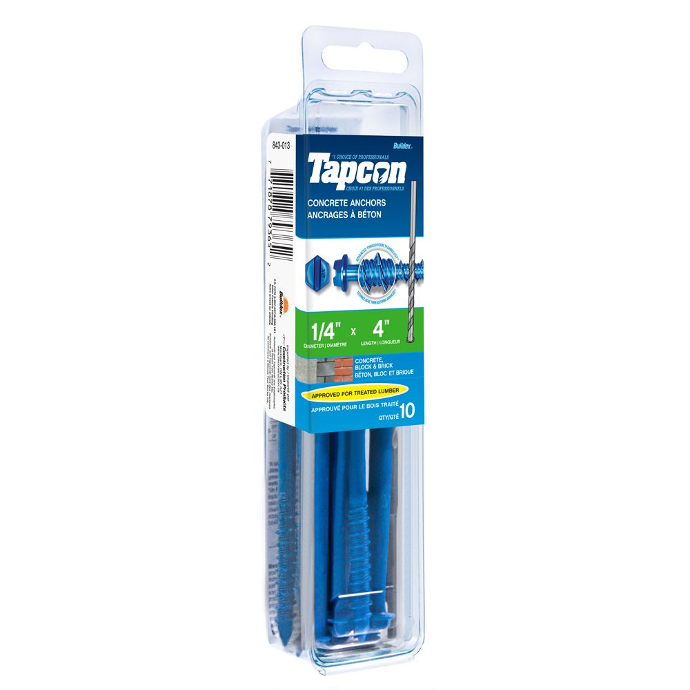 Papc 1/4x4 Hex Head Tapcon  Screws