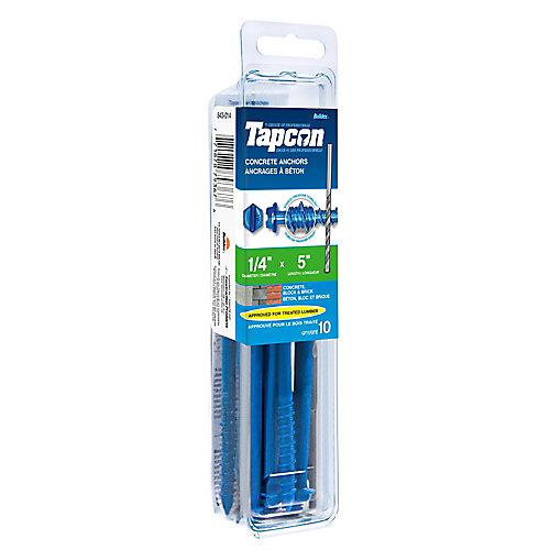 Papc 1/4x5 Hex Head Tapcon