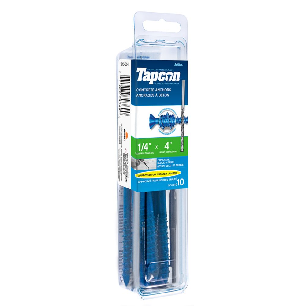 Papc 1/4x4 Flat Head Phillips Tapcon
