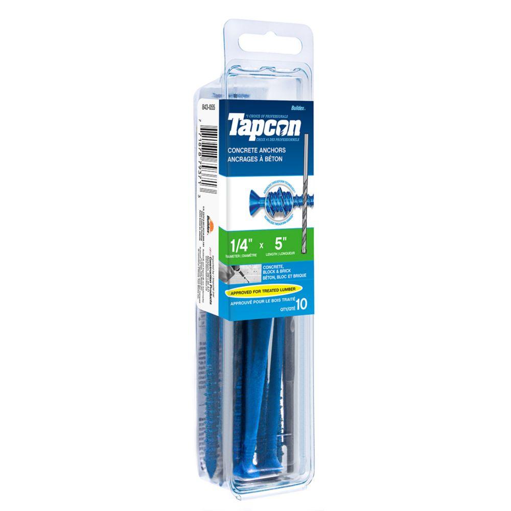 Papc 1/4x5 Flat Head Phillips Tapcon