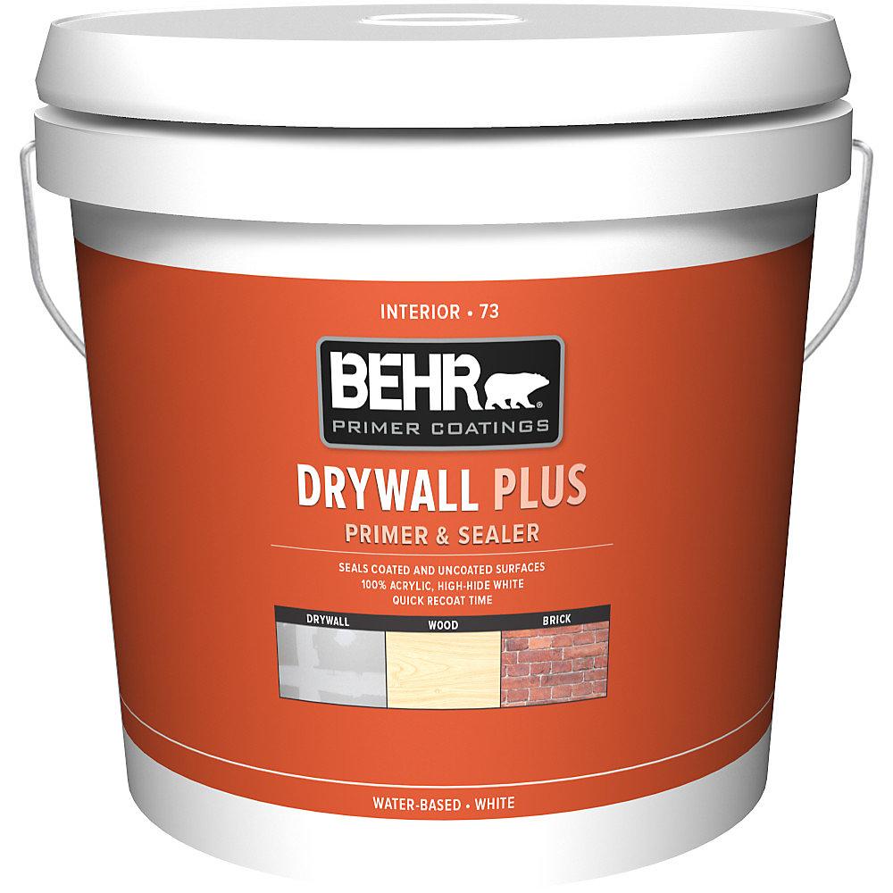 Behr Premium Plus 7.58L White Interior Drywall Primer ...