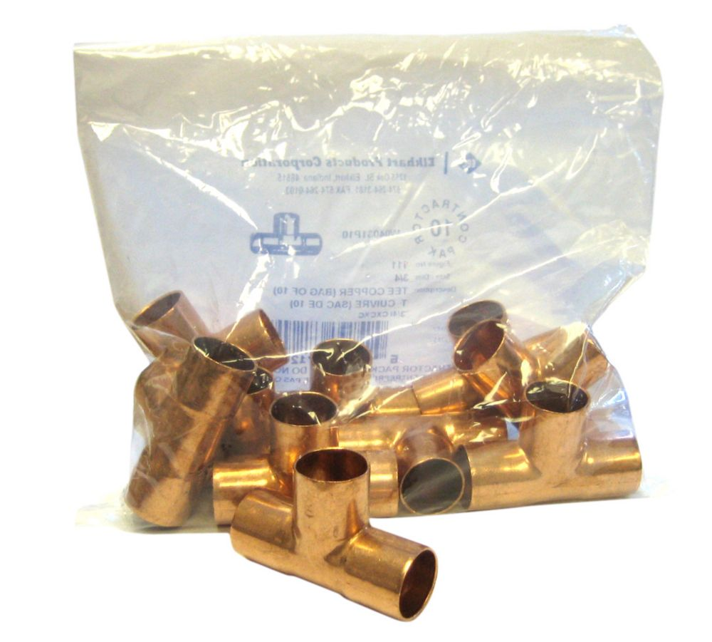 Fitting Copper Tee 3/4 Inch Copper To Copper To Copper (Pack of 10)