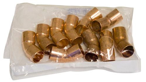 Fitting Copper 45 Degree Elbow 3/4 Inch Copper To Copper (Pack of 10)