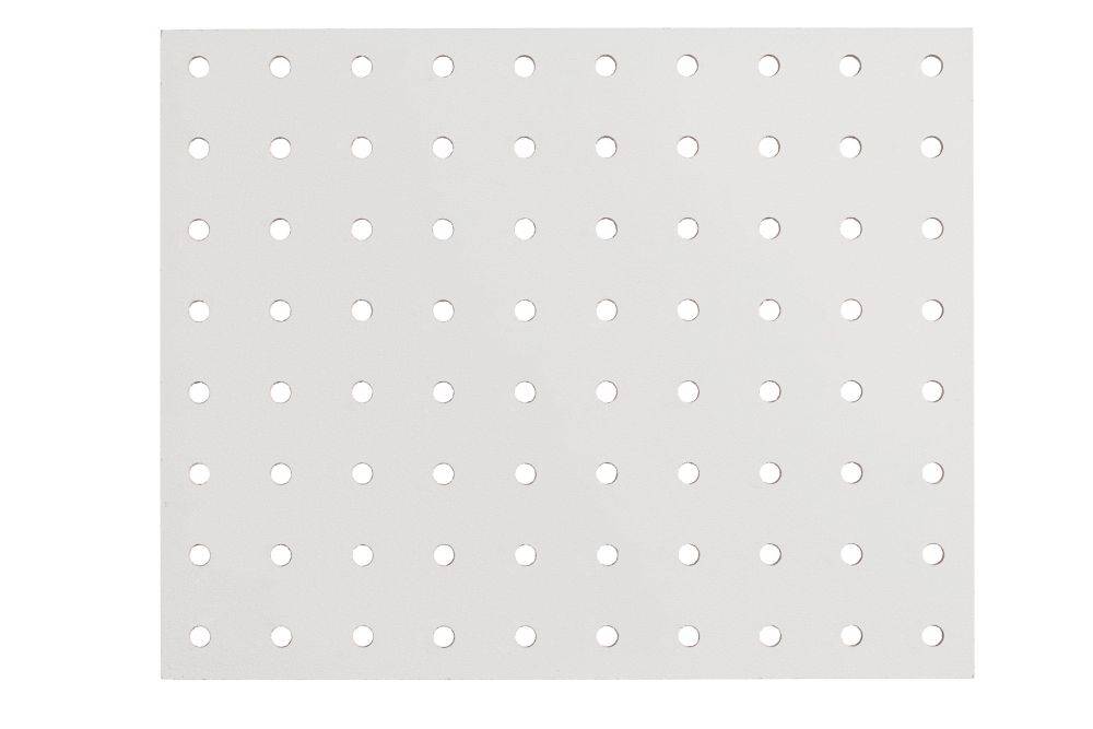 Panneau de fibres dures haute densité perforé 5,5mm 48po x 96po - Blanc