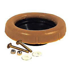 Waterline Toilet Wax Bowl Ring With Sleeve & 2-1/4 Inch Brass Bolts