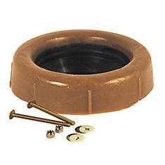 Joint-Extension De Cire Pour Toilette Avec Manchon Et Boulons De 3 Po En Laiton