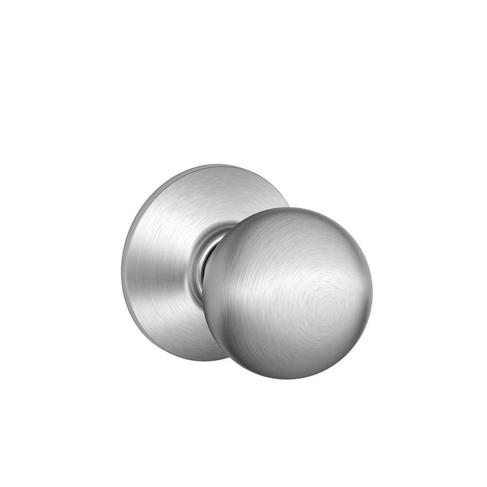 Bouton de porte non verrouillable « Orbit » pour hall d'entrée et placards en chrome satiné