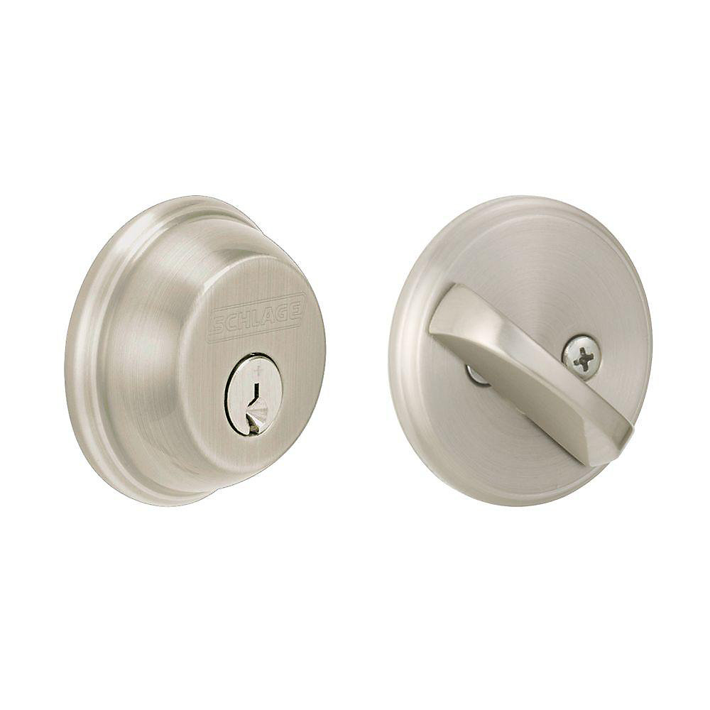 Single Cylinder Deadbolt Satin Nickel
