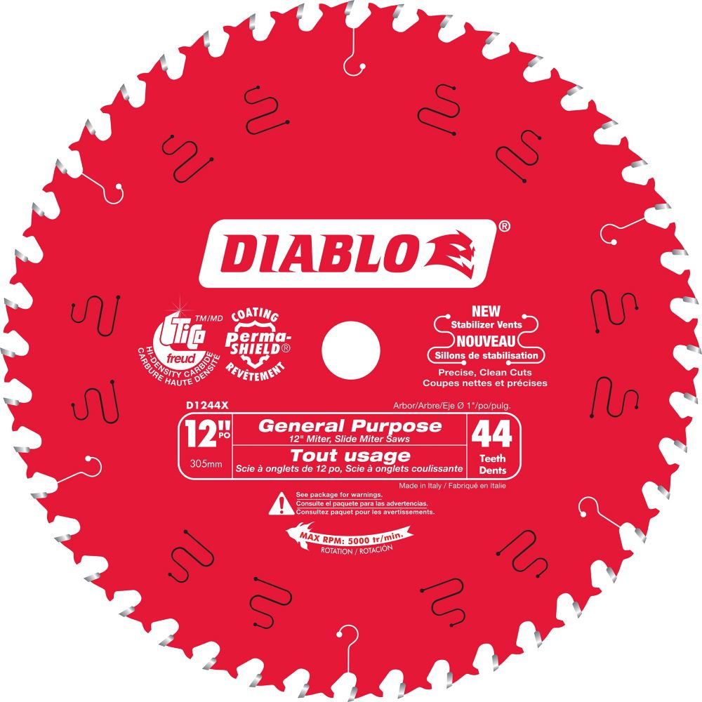 12 In. Diablo General Purpose Blade - 44 Teeth