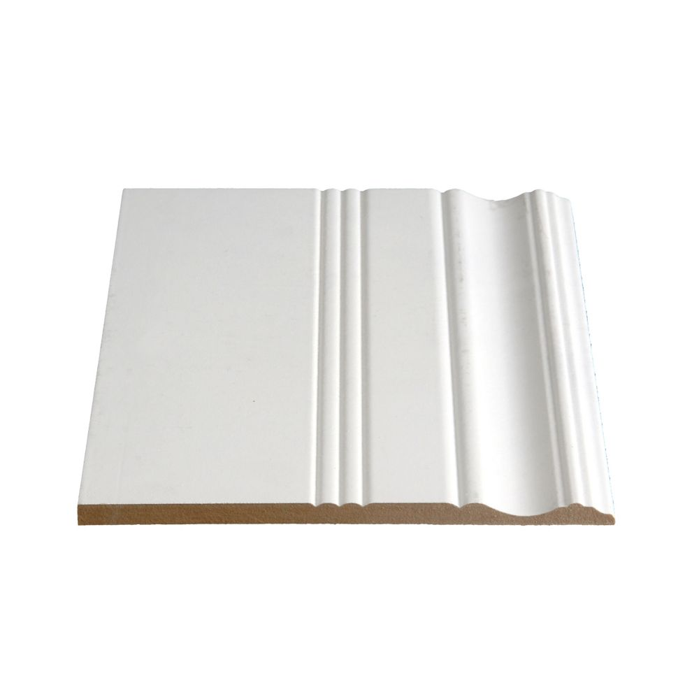 Primed Fibreboard Colonial Base 3/8 In. x 7-3/8 In. (Price per linear foot)