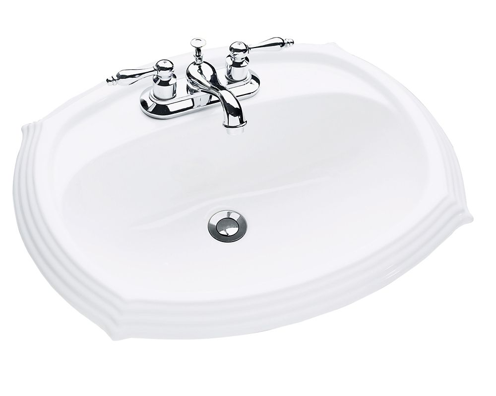 Regent Oval Drop-In Bathroom Sink