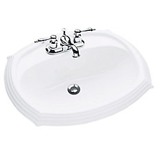 bathroom sink. Regent Oval Drop-In Bathroom Sink In White