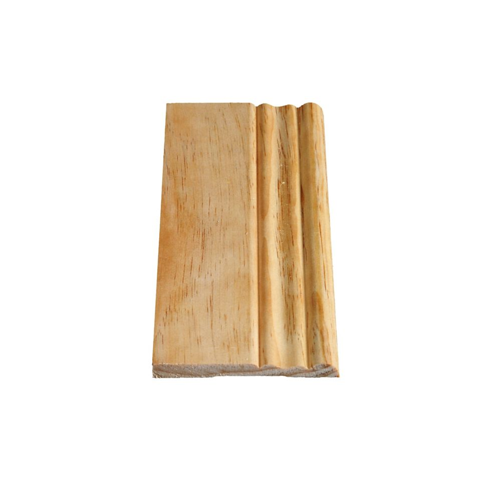 Solid Clear Pine Colonial Base 5/16 In. x 3-1/8 In. x 8 Ft.