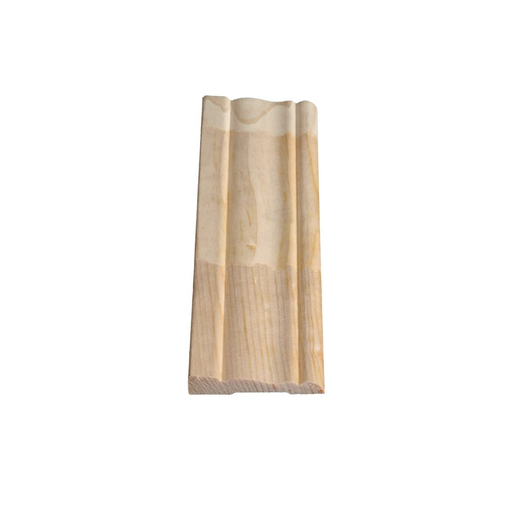 Finger Jointed Pine Colonial Casing 3/8 In. x 2-1/8 In. (Price per linear foot)