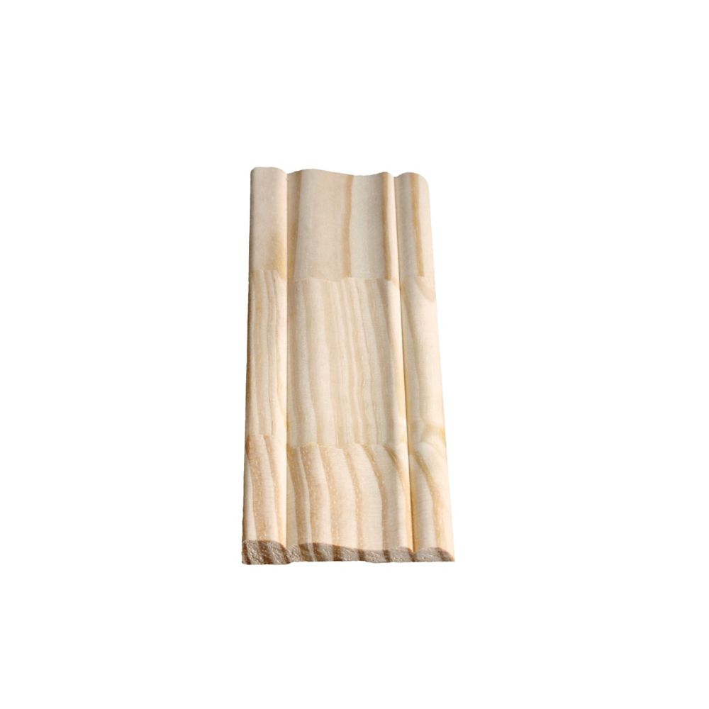 Finger Jointed Pine Colonial Casing 3/8 In. x 2-1/2 In. x 7 Ft.