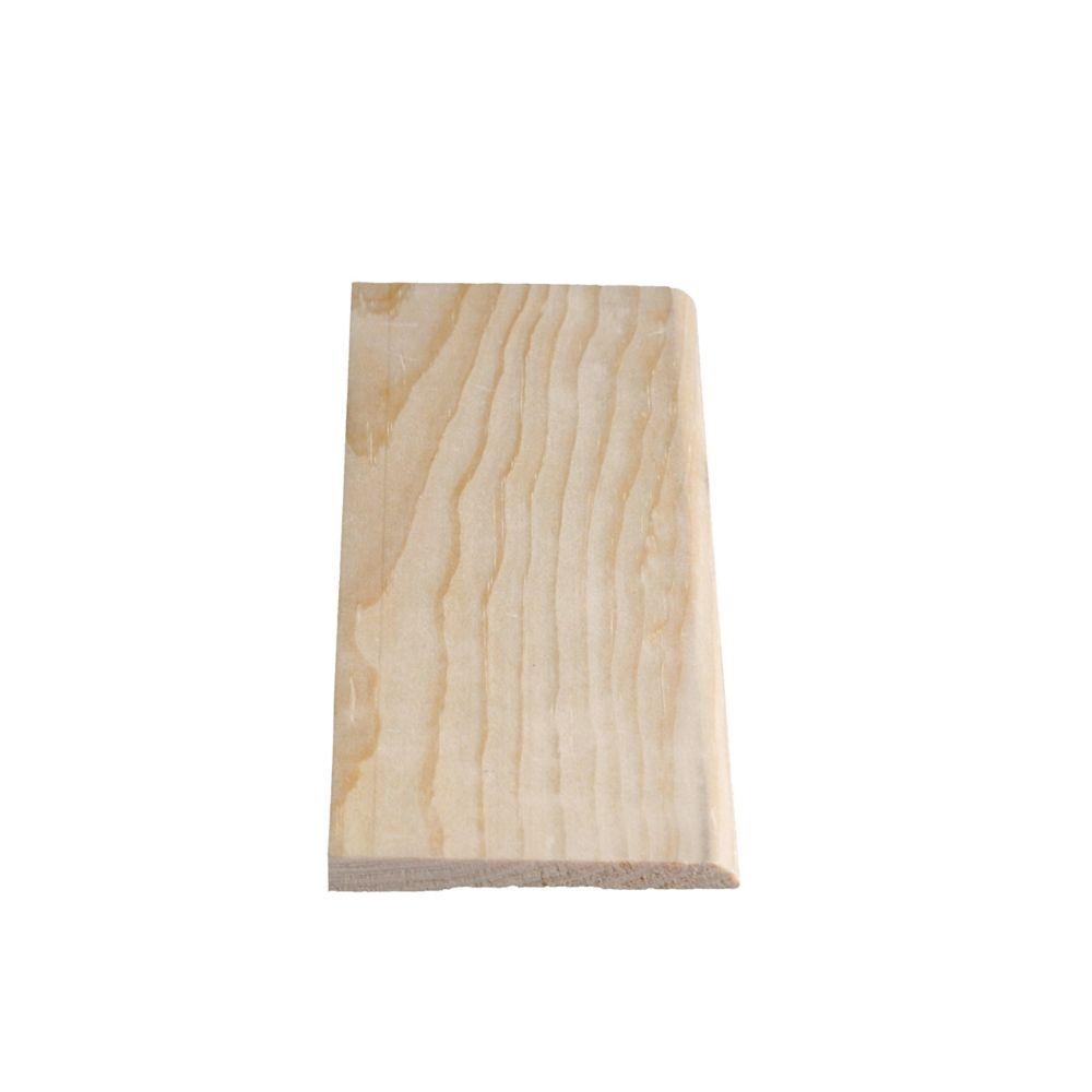 Plinthe biseautée en pin clair massif 5/16 x 3 1/8