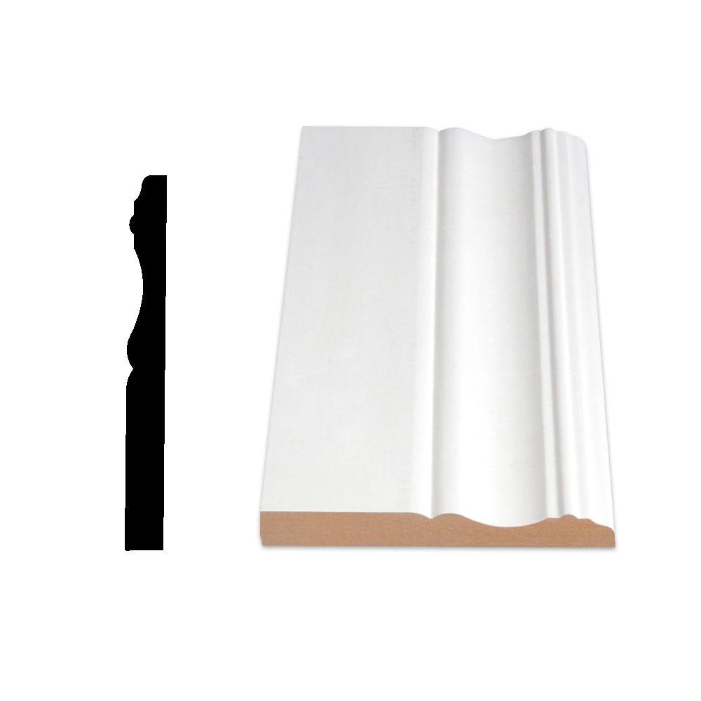 Primed Fibreboard Colonial Base 1/2 In. x 4-1/8 In. (Price per linear foot)