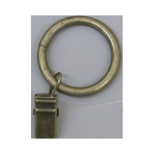 1 In. Ring With Clamp - Color Antique Brass