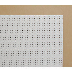 1/4 Inch 2 Feet x 4 Feet White Pegboard Handy Panel