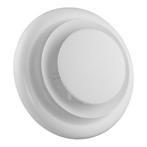 5 inch - 6 inch Round Air Diffuser White THD