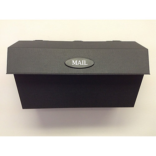 Wall Mount Plastic Mailbox, Black